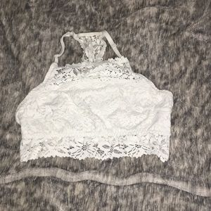 Lace bralet white large